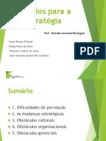 Desafios para a Estratégia - Gestão Estratégica - IFSP