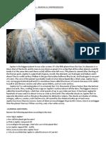 Jupiter Destroyer of Comets Reading Comprehension Exercise