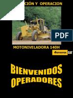 MOTONIVELADORA 140H, CAT.ppt