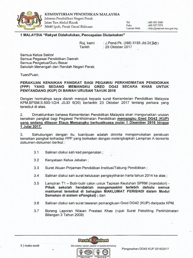 Perakuan Kenaikan Pangkat Dg42 Jpn Kpm
