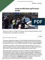 Paris - un gendarme arrêté alors qu'il transportait des explosifs