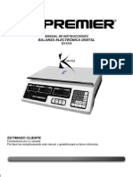Balanza Premier Manual -ED-2959 Nuevo
