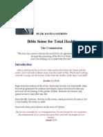 Bible Sense for Total Health