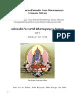 Adhimukti Parivartah Dharmaparyaya Suttram