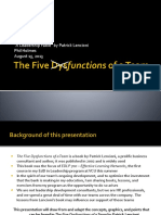 The Five Dysfunctions of a Team - Phil Holmes