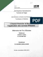 L'Impact Financier Et Fiscal de l'Application Des Normes IFRS IAS