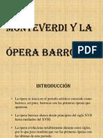 Monteverdi y La Ópera Barroca