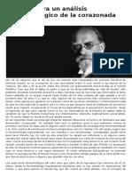 Apuntes para un análisis fenomenológico de la corazonada  ESTEBAN MARÍN ÁVILA