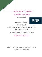 20181231 Libretto Maria Madre Di Dio Pvespri