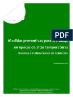 Medidas Preventivas Para El Trabajo en Epocas de Altas Temperaturas