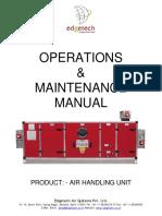 Operation Manual of AHU