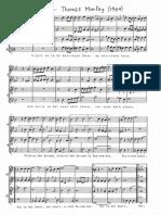 Recorder Quartet - April (Thomas Morley)
