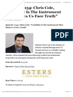 """201812 - Episode 134 Chris Cole, """"Volatility Is The Instrument That Makes Us Face Truth"""" 