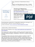 New Psichology of Reasoning
