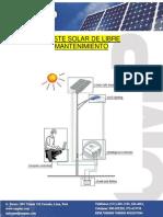 Poste Solar 30w Omp 2015 6m