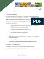 Technical Data Sheet R32 ENGLISH