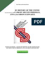 Historia Monetaria de los Estados Unidos - Comentario