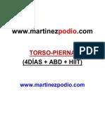 Rutina TORSO-PIERNA (4D ABD+HIIT)