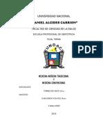 Monografia de Medicina Indigena Tradicional y Medicina Convencional