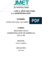 Informatica Aplicada Para La Administración