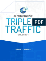 35 Proven Ways to Triple Your Traffic Vol 1 - Shane Barker