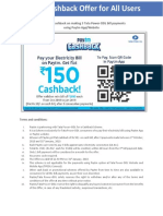 Paytm Cashback Schemes for All Users Oct-Jan'18 New