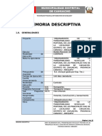 "memoria descriptiva ""Mejoramiento de transitabilidad vias cahuacho caraveli arequipa"""
