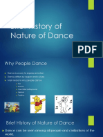 Brief History of Nature of Dance