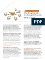 A Center of Excellence Takes Stronghold as the New Strategic Differentiator
