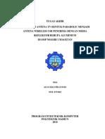 Tugas Akhir-modifikasi Antena Tv Bentuk Parabolic-Agus Eko Pratomo