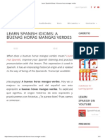 Learn Spanish Idioms_ a Buenas Horas Mangas Verdes