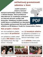 Poster o projekte Nadácie Pontis v Keni
