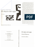 Objeto Del Siglo- Gérard Wajcman