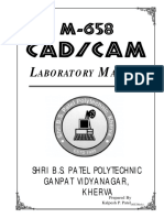 M-658 Cad-cam Lab Manual
