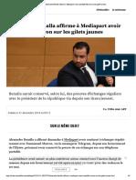 Alexandre Benalla affirme à Mediapart a...conseillé Macron sur les gilets jaunes