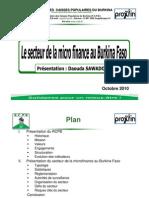 Présentation du secteur de la microfinance BF