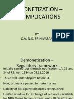 4 Demonetization Currency Tax Implications CA NS Srinivasan