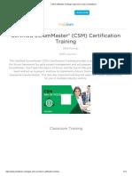 CSM Certification Training _ Classroom Course _ Simplilearn