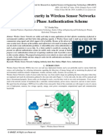 Mobile Node Security in Wireless Sensor Networks using Three Phase Authentication Scheme