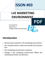 Lesson 03; The Marketing Environment (1)