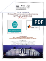 Two Day Workshop on Design of Power Electronics Circuits Using MATLAB and SIMULINK