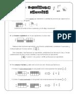 Resumen Las fracciones 6.º Primaria Matemáticas