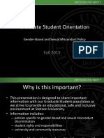 Students Orientation to Avoid Chemical Submission