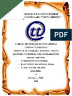 Monografia Ley de Contratacciones Del Estado
