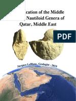 Identification of the Middle Eocene Nautiloid Genera of Qatar, Middle-East