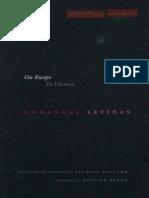 (Cultural Memory in the Present) Emmanuel Levinas-On Escape_ De l'évasion-Stanford University Press (2003).pdf