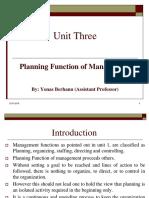 Planning Function