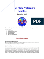 Vet State Benefits - HI 2018
