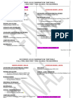 December 2018 Timetable (2)
