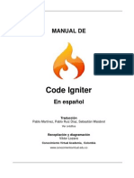 CodeIgniter Spanish UserGuide